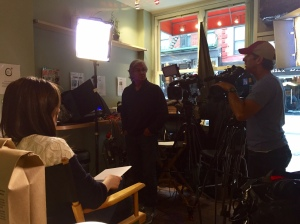 Behind the scenes at the filming of CNBC's Pop Karma segment