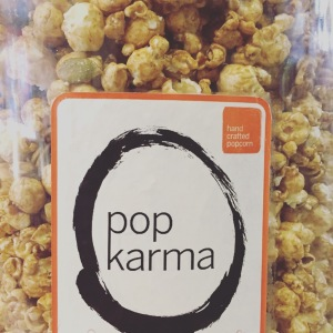 Pop Karma Pumpkin Spice Caramel Popcorn is loaded with spice and pumpkin seeds!